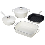 6pc Signature Cast Iron Cookware Set White Product Image