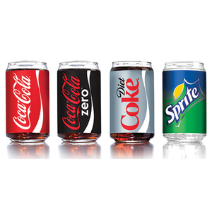 16oz Assorted Coca-Cola Glasses Set of 4 Product Image