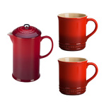 27oz Stoneware French Press & Mug Set Cerise Product Image