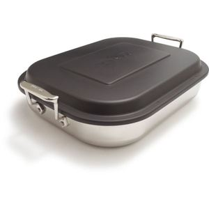 Specialty Stainless Steel Lasagna Pan with Lid Product Image