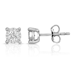 Diamond Solitaire .50twt Stud Earrings Product Image