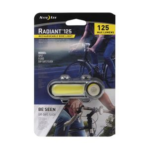 Radiant 125 Rechargeable Bike Light - White Product Image