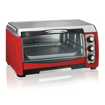 "6-Slice/12"" Pizza ensemble Toaster Oven Red Product Image"
