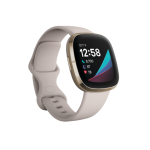 Fitbit Sense (Lunar White/Soft Gold Stainless Steel) Product Image