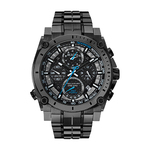 Mens Precisionist Black Stainless Steel Watch Black Dial Product Image