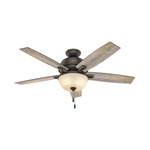 "Contemporary Donegan 52"" Ceiling Fan Onyx Bengal Finish Product Image"