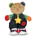Teddy Wear Stuffed Bear Educational Toy Ages 18+ Months Product Image