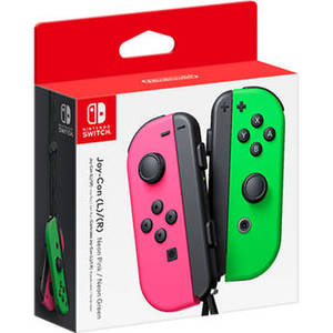 Joy-Con Controllers (Neon Pink/Green) Product Image