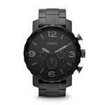 Mens Nate Stainless Steel Watch Black Product Image